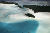 Micronesia, Palau, Ariel View of Rock Islands Photographic Print by Stuart Westmorland