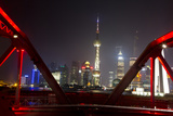 Shanghai, China, Evening Cityscape and Evening Lights Photographic Print by Darrell Gulin