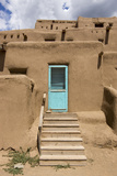 New Mexico, Taos. Taos Pueblo, Pre Hispanic Architecture Photographic Print by Luc Novovitch