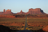 Utah, Navajo Nation, School Bus on U.S. Route 163 Photographic Print by David Wall