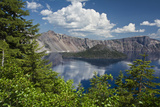 Wizard Island and Crater Lake, Crater Lake National Park, Oregon Photographic Print by Michel Hersen