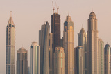 Skyline of Buildings around the Dubai Marina, Dubai, Uae Photographic Print by Michael DeFreitas