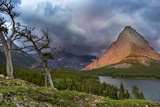Grinnell Point over Swift Current Lake in Glacier National Park, Montana Photographic Print by Chuck Haney