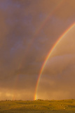 Wyoming, Sublette County, Double Rainbow in Stormy Sky Photographic Print by Elizabeth Boehm