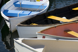 Maine, Rockland. Colorful Row Boats in Rockland Marina Photographic Print by Cindy Miller Hopkins