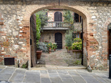 Italy, Tuscany, Montefollonico. the Medieval Town of Montefollonico Photographic Print by Julie Eggers