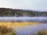 New York, Adirondack Mts, Fall Trees Reflecting in a Pond Photographic Print by Christopher Talbot Frank