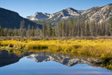 Sawtooth Mountains, Stanley Lake Inlet, Sawtooth Nf, Stanley, Idaho Photographic Print by Michel Hersen