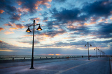 Early Morning Along Atlantic Ocean and the Key West Pier Photographic Print by Terry Eggers