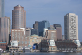 Massachusetts, Boston. Skyline and Waterfront Area View from Fan Pier Photographic Print by Cindy Miller Hopkins