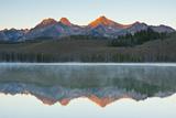 Sunrise at Sawtooth Mts, Little Redfish Lake, Stanley, Idaho Photographic Print by Michel Hersen