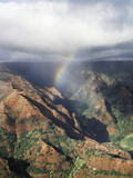 Hawaii, Kauai, Waimea Canyon State Park, a Rainbow over Waimea Canyon Photographic Print by Christopher Talbot Frank