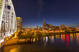 Skyline at Dusk over the Cumberland River in Nashville Tennessee Photographic Print by Chuck Haney