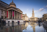 England, London, Trafalgar Square and National Gallery, Late Afternoon Photographic Print by Walter Bibikow