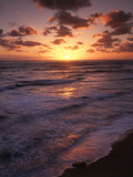 California, San Diego, Sunset Cliffs, Waves Crashing on a Beach Photographic Print by Christopher Talbot Frank