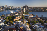 Australia, Sydney Harbor Bridge, Elevated View, Dawn Photographic Print by Walter Bibikow