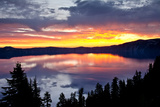 Sunrise, Crater Lake National Park, Oregon, USA, Lake, National Park, National Park Photographic Print by Michel Hersen