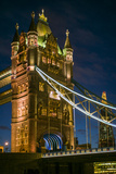 England, London, Tower Bridge, Dusk Photographic Print by Walter Bibikow