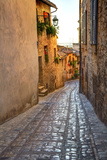 Colored Buildings and Stores Along a Back Street of Spello Photographic Print by Terry Eggers