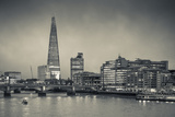 England, London, Shard Building from Millennium Bridge, Dusk Photographic Print by Walter Bibikow