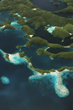 Palau, Micronesia, Rock Islands, Aerial View of Rock Islands Photographic Print by Stuart Westmorland