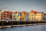 Dutch Architecture Lines the Wharf at Willemstad, Curacao, West Indies Photographic Print by Brian Jannsen