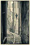 Passau, Germany, Narrow Alleyway of Historic Village, Vintage Look Photographic Print by Sheila Haddad