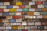 Utah, Old Number Plates at Hole N the Rock Tourist Center Photographic Print by David Wall