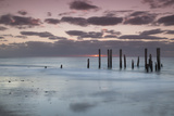 Australia, Fleurieu Peninsula, Port Willunga, Old Jetty, Dusk Photographic Print by Walter Bibikow