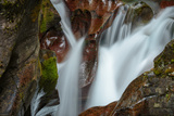 USA, Montana, Glacier National Park. Avalanche Creek Falls Photographic Print by Rona Schwarz