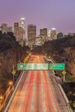 USA, California, Los Angeles 110 Freeway and Downtown Photographic Print by Rob Tilley