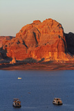 Arizona, Houseboats on Lake Powell at Wahweap Photographic Print by David Wall