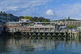 Maine, Mt. Desert Island, Bar Harbor, Pier Photographic Print by Walter Bibikow