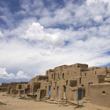 New Mexico. Taos Pueblo, Architecture Style from Pre Hispanic Americas Photographic Print by Luc Novovitch