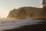 Wa, Olympic National Park, Sea Stacks at Sunset, Rialto Beach Photographic Print by Jamie And Judy Wild