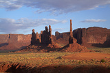 Navajo Nation, Monument Valley, Yei Bi Chei and Totem Pole Rock Column Photographic Print by David Wall