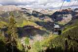 The Free Gondola and the Town of Telluride Below, Colorado Photographic Print by Susan Degginger