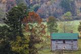 North Carolina, Valle Crucis, Old Farmhouse, Autumn Photographic Print by Walter Bibikow