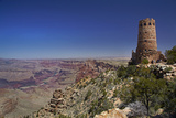 Arizona, Grand Canyon National Park, East Rim Drive, Grand Canyon and Watchtower Photographic Print by David Wall