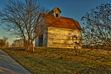 USA, Indiana, Rural Scene of Red Roofed Barn Photographic Print by Rona Schwarz