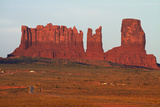 Navajo Nation, Monument Valley, Night over Mitten Rock Formations Photographic Print by David Wall