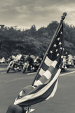 North Carolina, Charlotte, Flag at Rally of Christian Motorcycle Clubs Photographic Print by Walter Bibikow