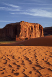 Navajo Nation, Monument Valley, Sand Dunes and Rock Outcrop Photographic Print by David Wall