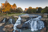 South Carolina, Greenville, Falls Park on the Reedy River, Dawn Photographic Print by Walter Bibikow