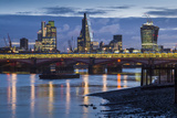 England, London, City, Skyline from Blackfriars Bridge, Dawn Photographic Print by Walter Bibikow