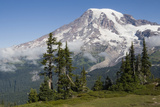 Mount Rainier National Park, Mount Rainier Photographic Print by Ken Archer