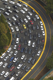 Los Angeles, Hollywood, Traffic Queueing to Get into Universal Studios Photographic Print by David Wall