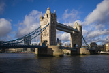England, London, Tower Bridge, Late Afternoon Photographic Print by Walter Bibikow