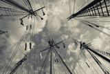 Massachusetts, Gloucester, Schooner Festival, Sails and Masts Photographic Print by Walter Bibikow