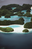 Palau, Micronesia, Ariel View of Rock Islands Photographic Print by Stuart Westmorland